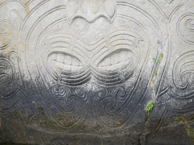 Marori Carvings near Lake Taupo mouths