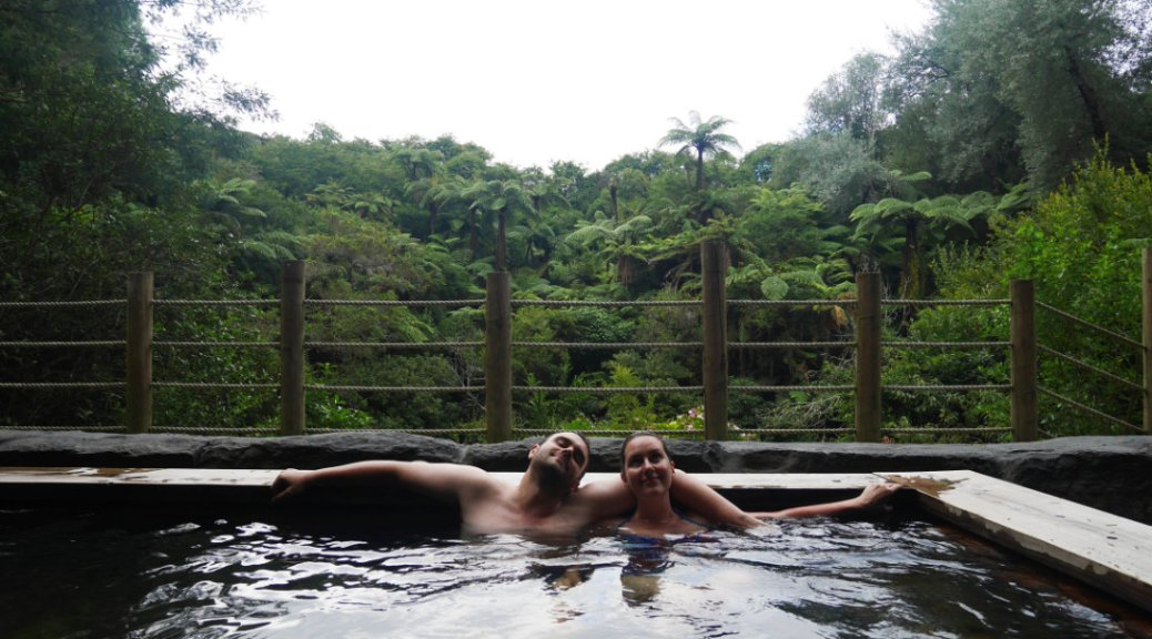 Relaxing in Okoroire hot springs
