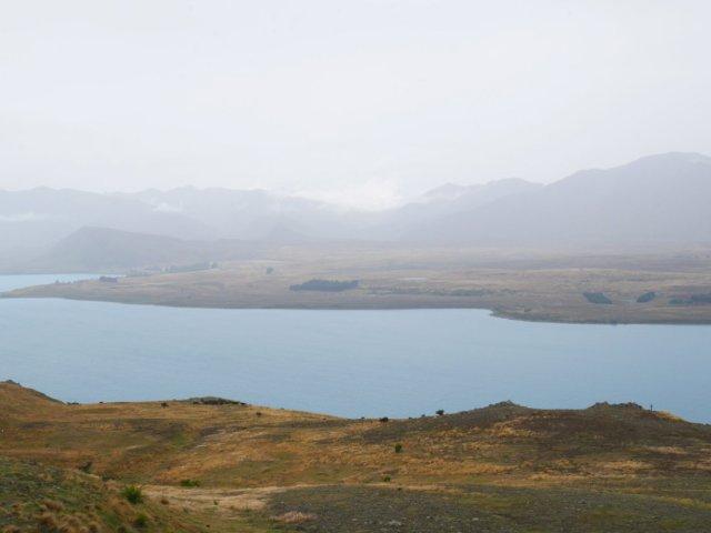 Lake Tekapo looking grey!