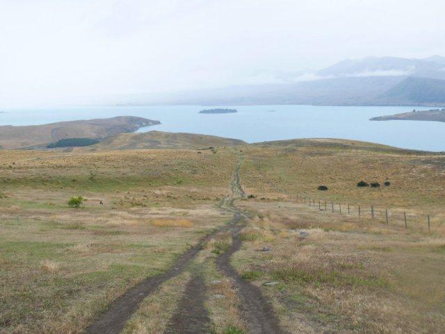 Heading down the Tekapo walkway from Mount John