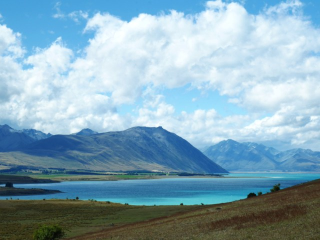 Lake Tekapo view from the peninsular walk