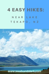 4 Easy hikes near Lake Tekapo