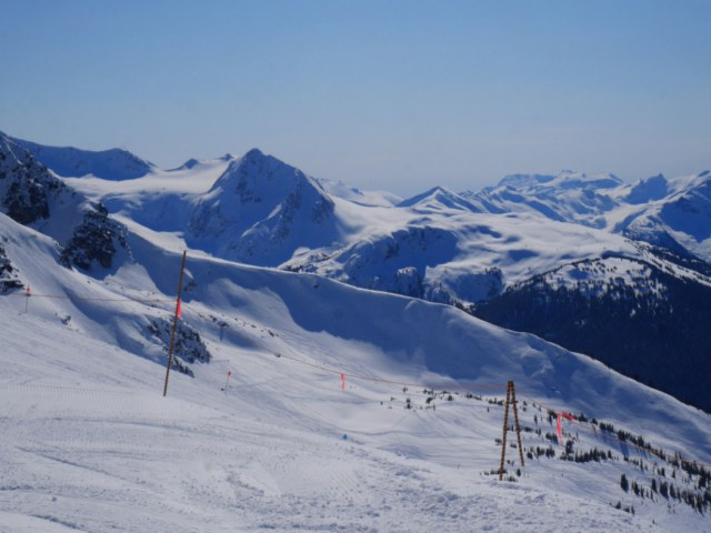 Amazing snow views from Blackcomb
