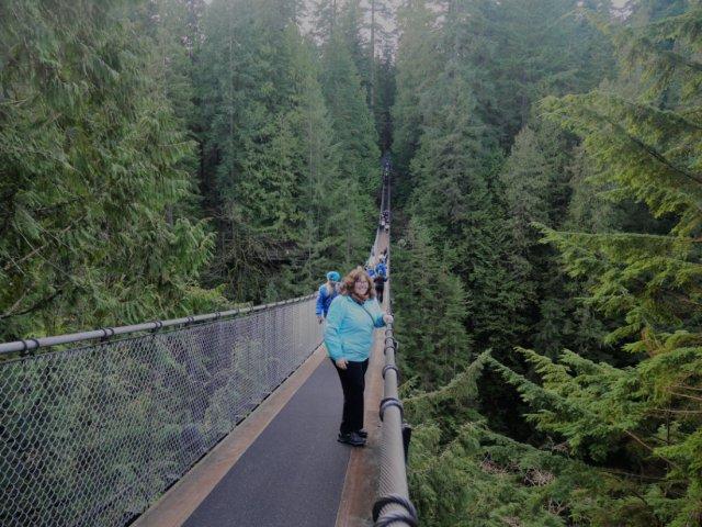 Emmy on the Capilano suspension bridge