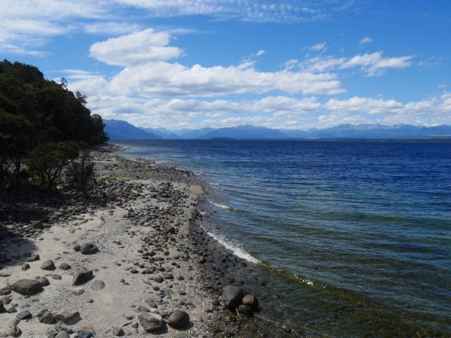 View from the Te Anau Glowworm cave island