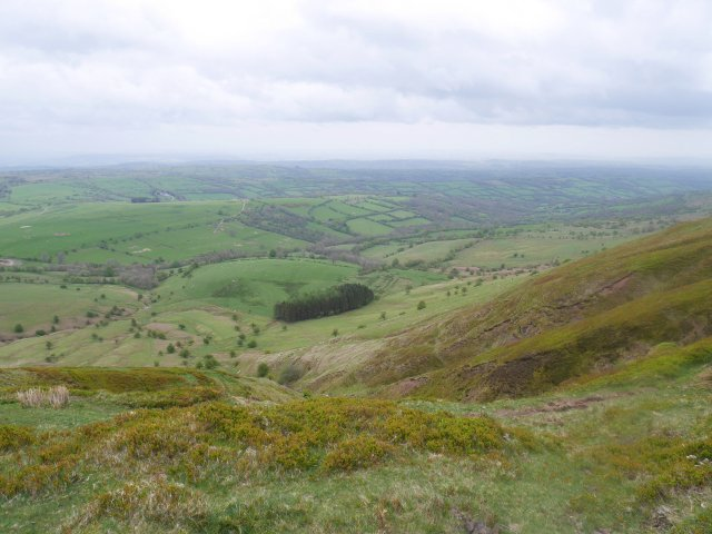 View down from Hay Bluff