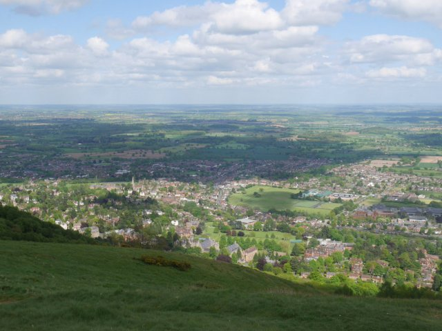 Looking down to Worcestershire