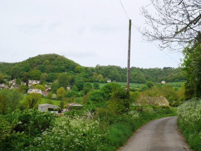 View down to Uley