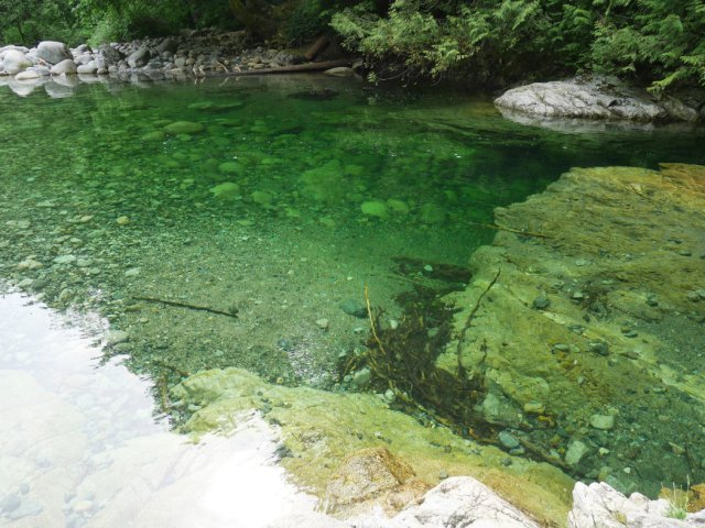 30 foot pool in Lynn Canyon Park