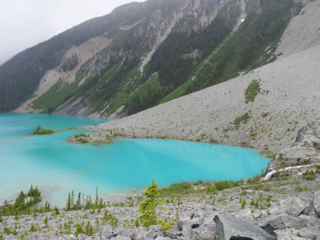 Upper Joffre Lake is stunning