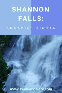 Shannon Falls near Squamish