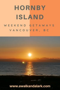 Hornby Island - Golden sunrise. Perfect for a weekend getaway from Vancouver