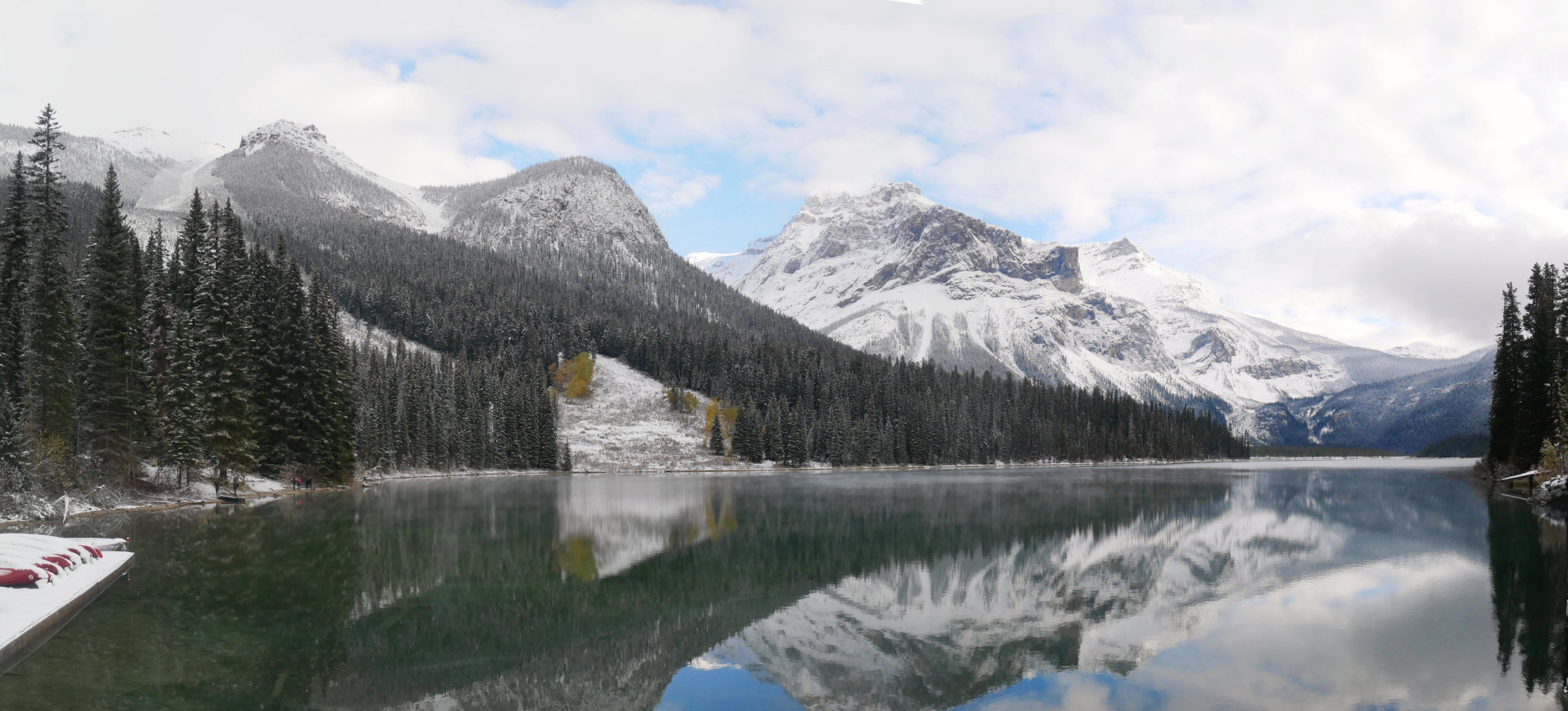 First view of Emerald Lake