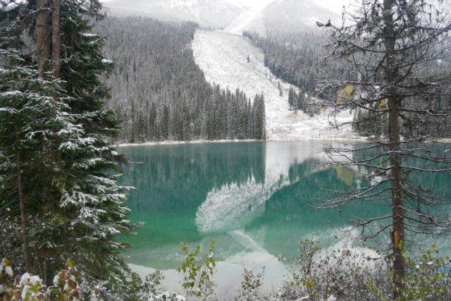 Avalanche area on Emerald Peak