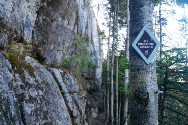 Al's Habrich ridge trail sign