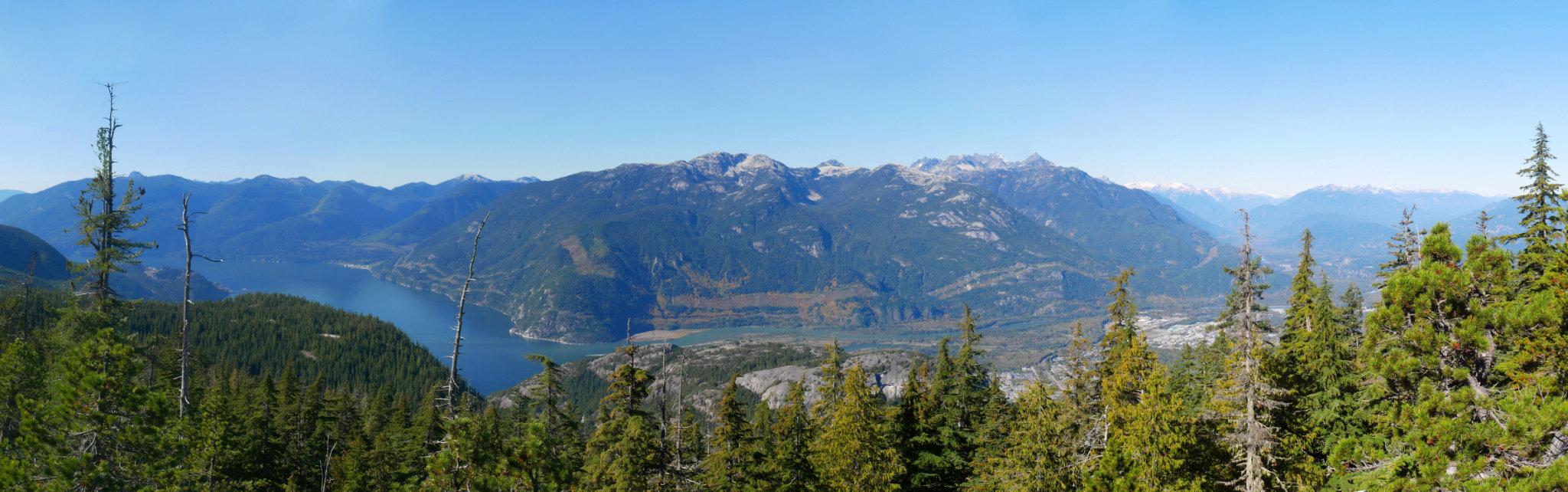 Al's Habrich ridge trail panorama halfway