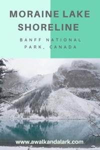 Moraine Lake Shoreline Trail - Lake view