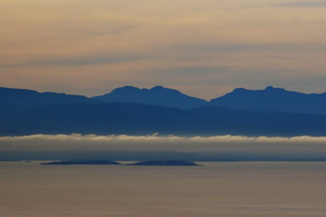 Vancouver island from Mount Daniel