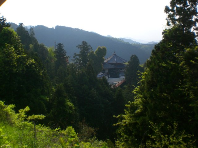 First view of Tsubosaka Temple