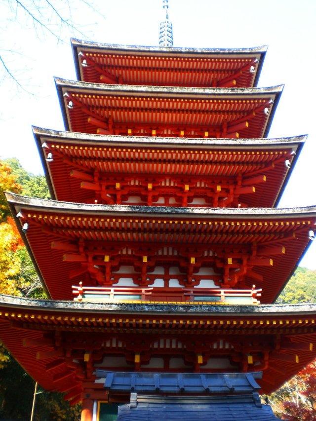 Five storied pagoda in Hasedera