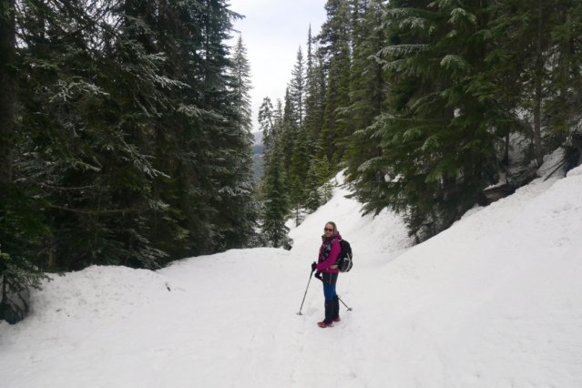 Shannon on such a pretty trail