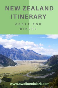 New Zealand itinerary - great for hikers