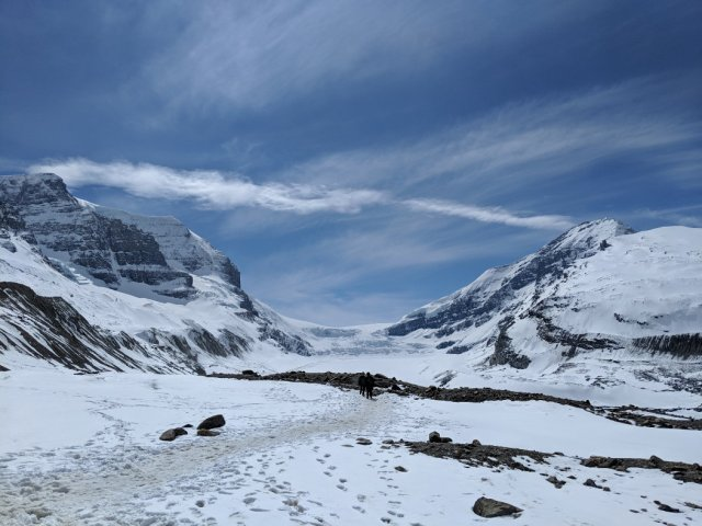 The forfiled trail - Athabasca Glacier Hike