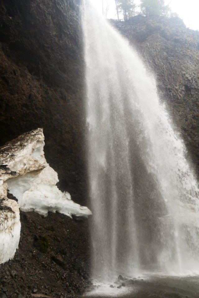 Plenty of water running down Moul Falls