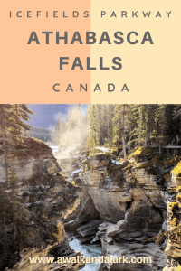Athabasca Falls - A gorgeous waterfall on the Icefields parkway. This was frozen and gorgeous if you travel to the Rockies, make sure you stop here!