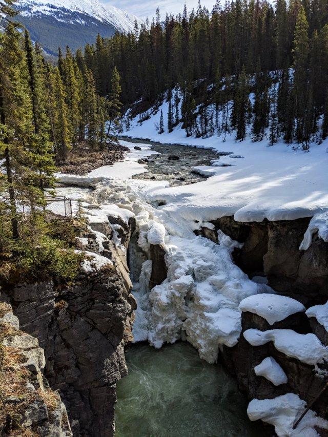Icy Sunwapta Falls