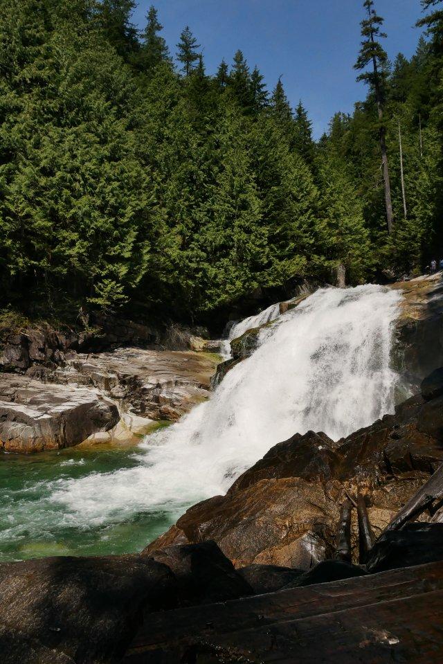 Lower falls in Gold Creek