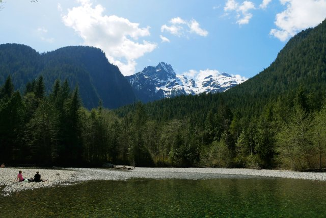 Edge Peak and Golden Ears from Viewpoint Beach