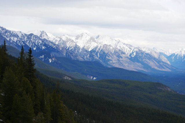 Looking over to Banff's Mountains