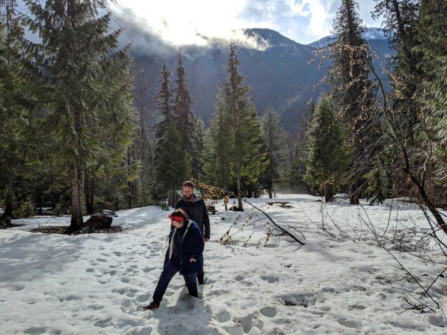 The Giant Cedars Boardwalk Trail wasn't quite open yet in April
