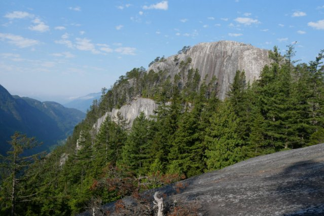 Looking back to the squamish chief's first peak