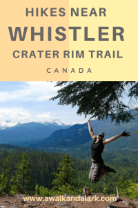 Crater Rim trail - Hikes near Whistler