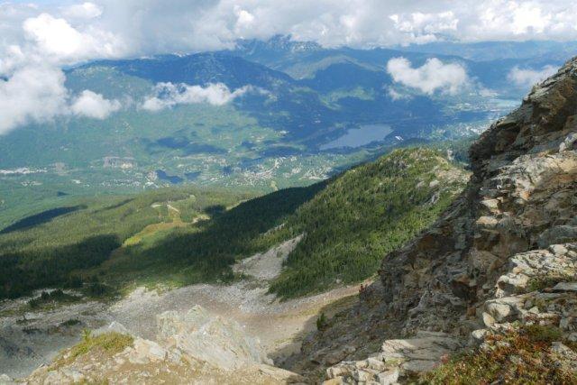 Views down to Whistler village