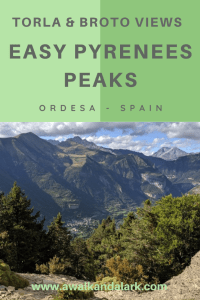 Easy Pyrenees Peaks near Ordesa, Spain