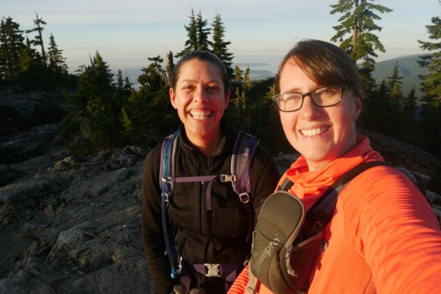 Lisa and I on First Pump Peak
