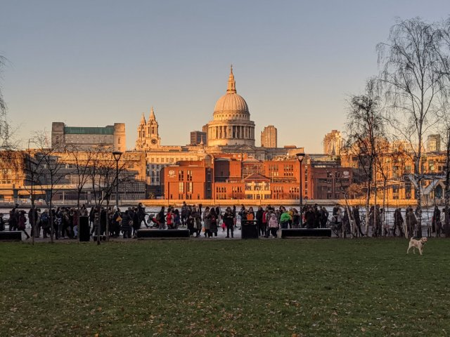 St Pauls Cathedral from the Tate Modern