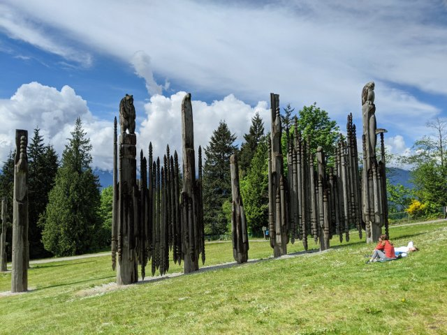 Kamui Mintara (Playground of the Gods) on Burnaby Mountain sculptures
