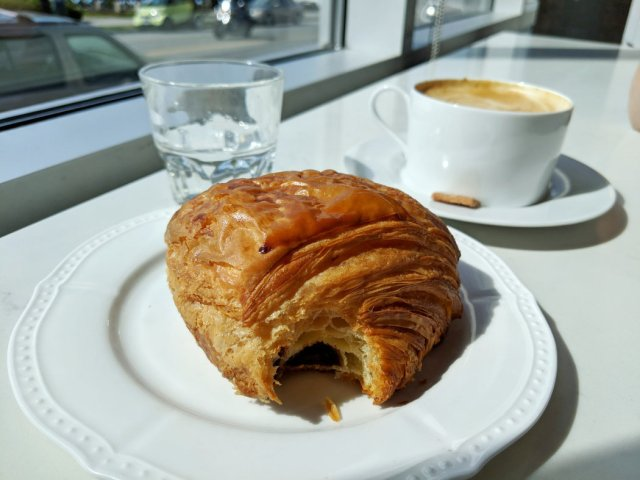 Perfect pain au chocolat from Beaucoup Bakery