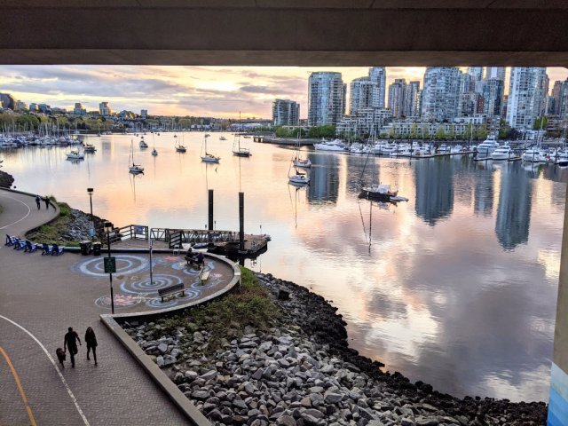 View down to False Creek
