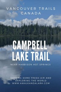 Campbell Lake Trail - steep but fine