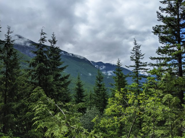 North Shore Mountains from Tunnel Bluffs