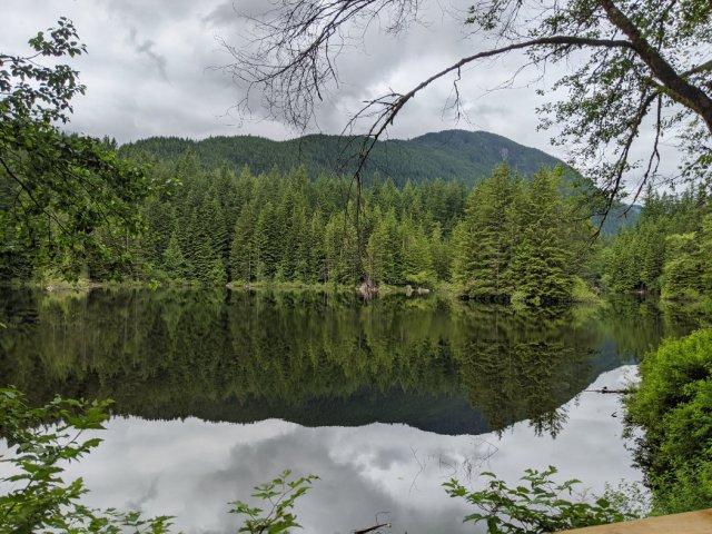 Rice Lake in Lynn Headwaters Regional Park
