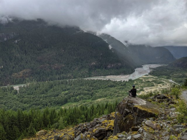 Squamish Valley from the logging road