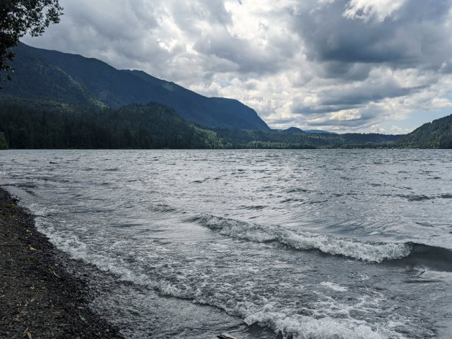 Cultus Lake looking moody