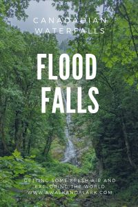 Flood Falls near Hope, Canada - easy to reach waterfall