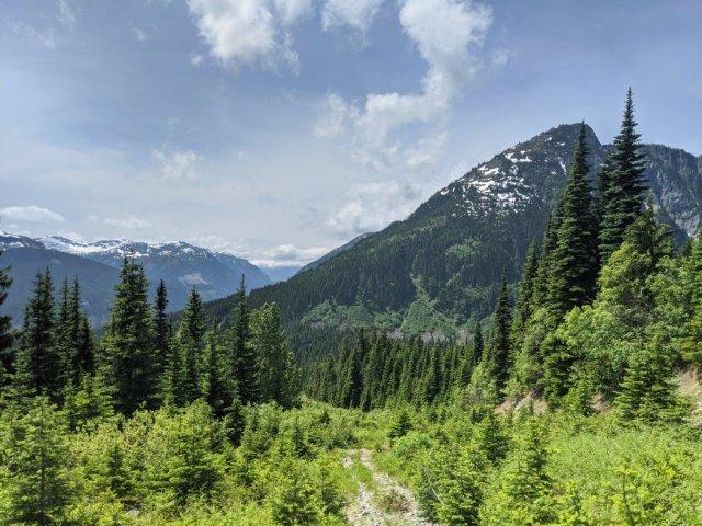 Looking down the Zoa Peak trail